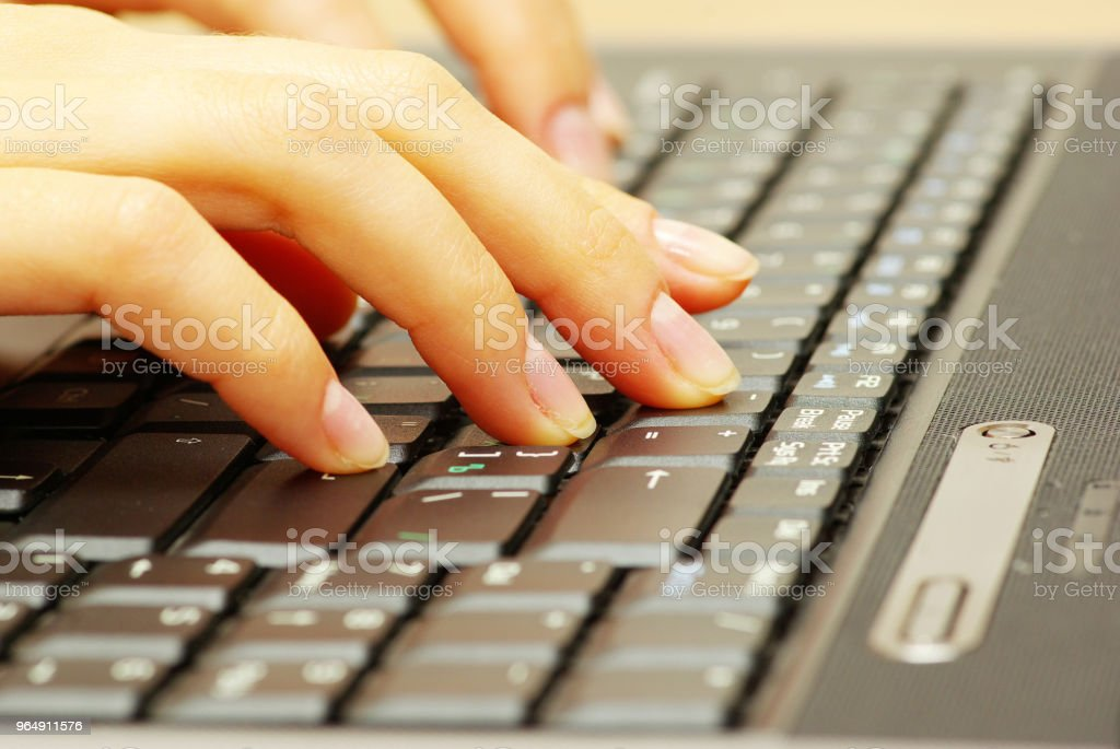 laptop keyboard royalty-free stock photo