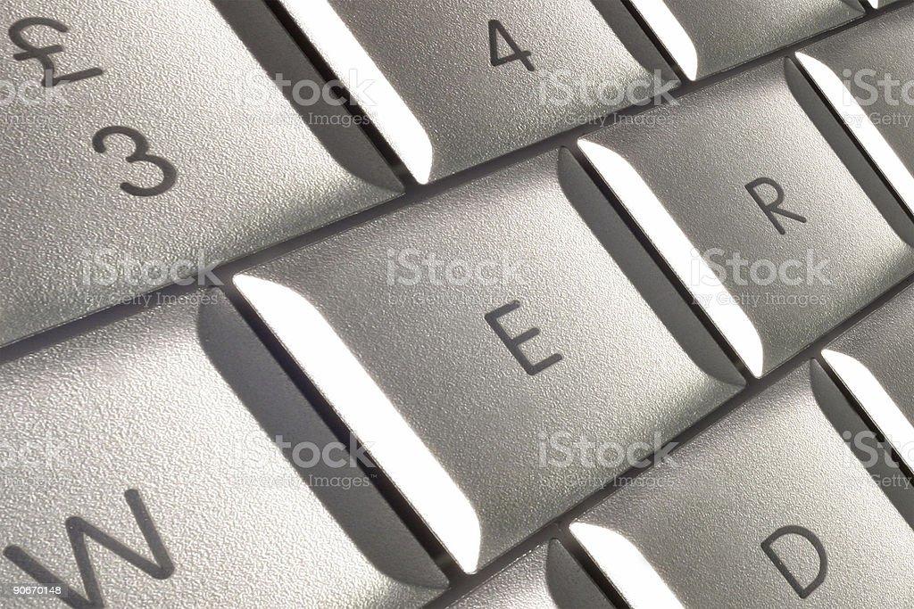 Laptop keys royalty-free stock photo