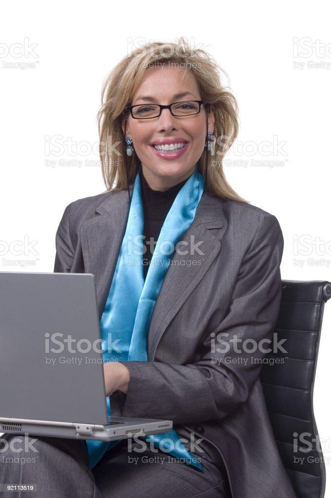 laptop lady royalty-free stock photo