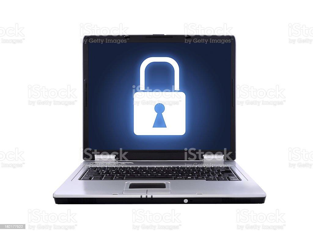 laptop locked royalty-free stock photo