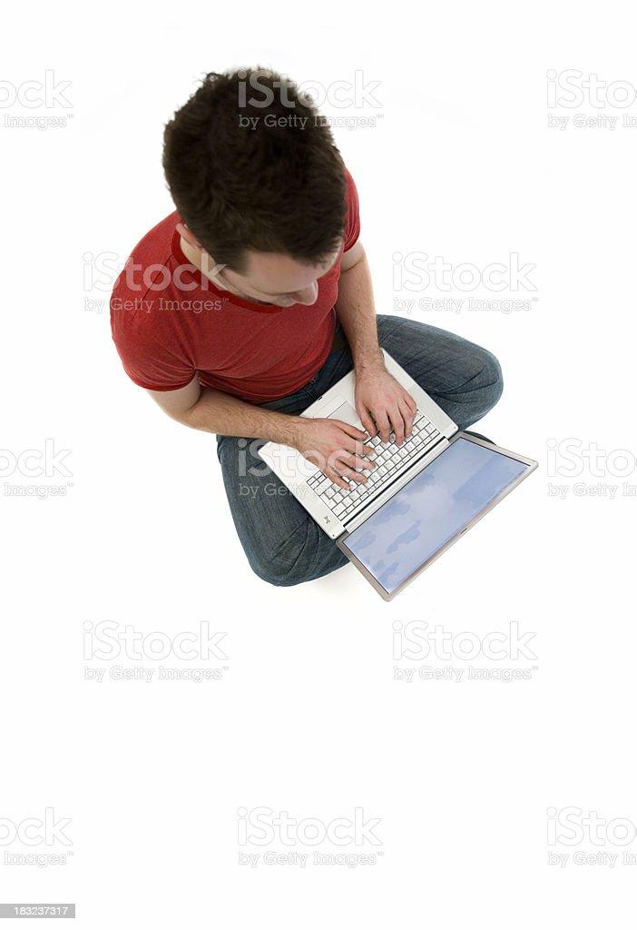 Laptop Man royalty-free stock photo