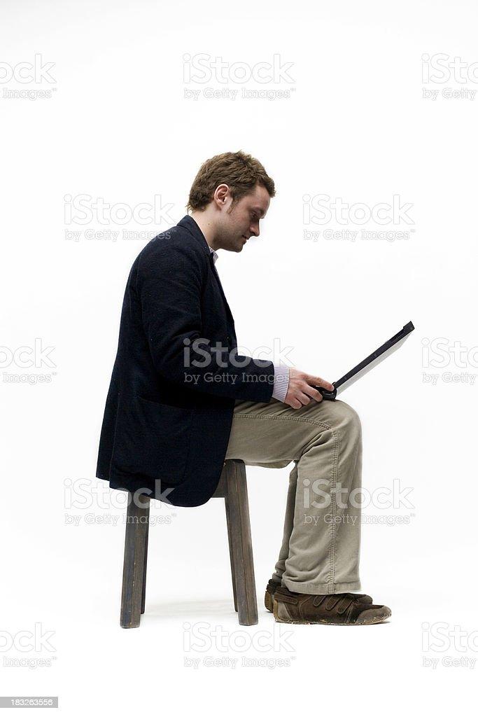 Laptop Man Sitting royalty-free stock photo
