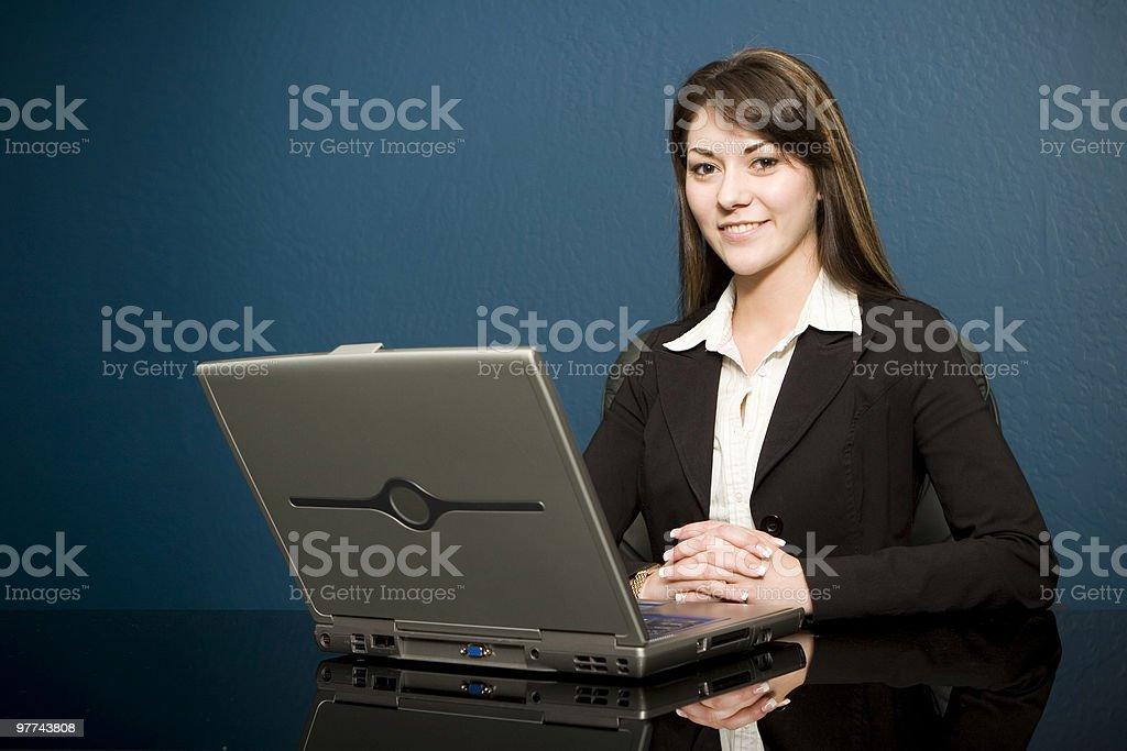 Laptop Meeting royalty-free stock photo