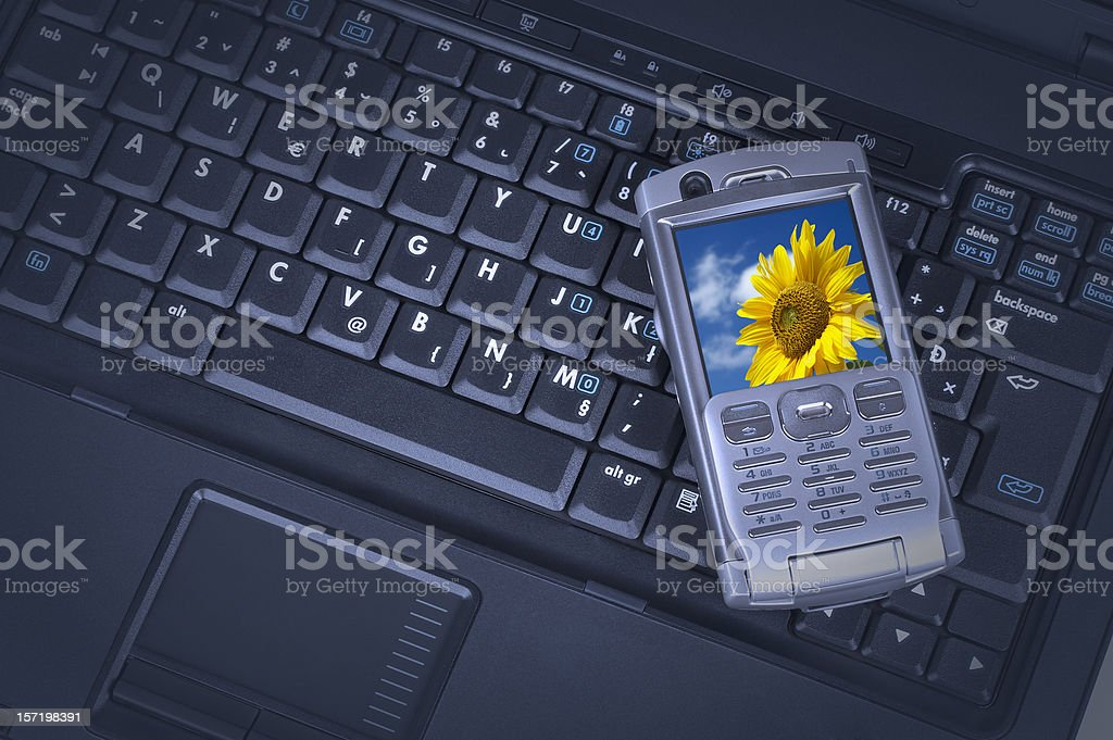 Laptop & mobile phone royalty-free stock photo