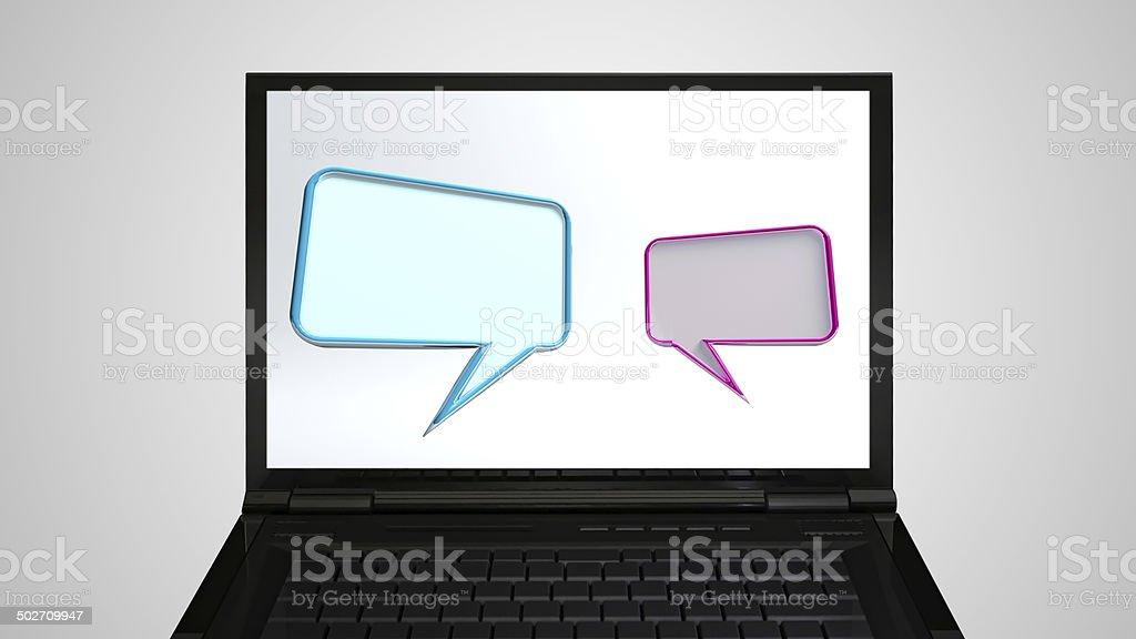 laptop Monitor display conversation royalty-free stock photo