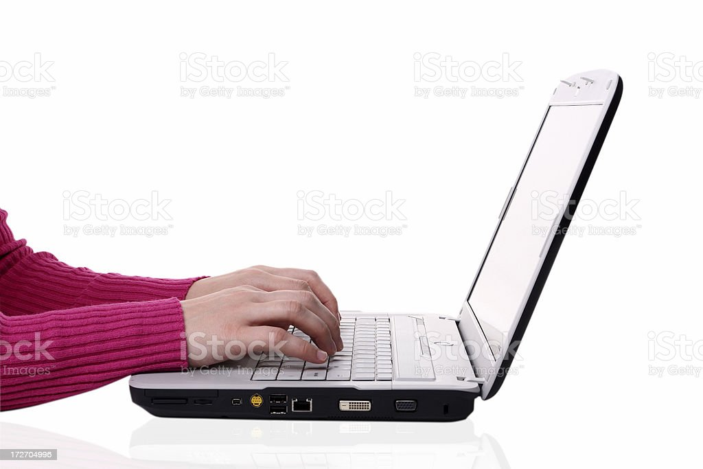 Laptop on  white background royalty-free stock photo