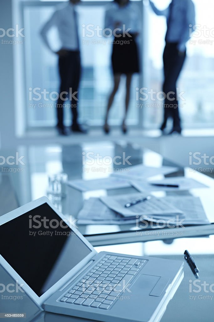 Laptop on workplace royalty-free stock photo