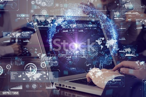 872670540 istock photo Laptop pc and information technology concept. 957627988