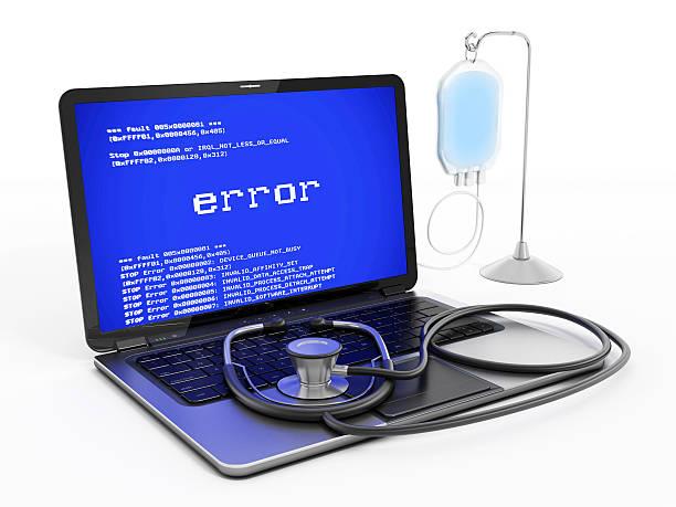laptop-pc reparieren - error stock-fotos und bilder