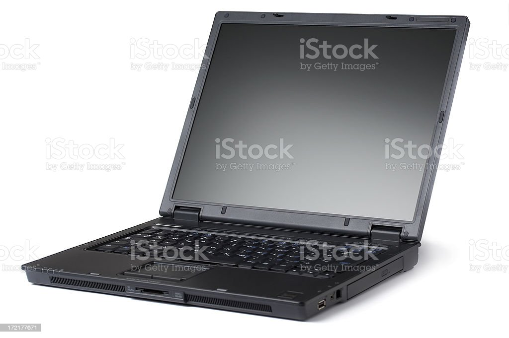 Laptop (clipping path) stock photo