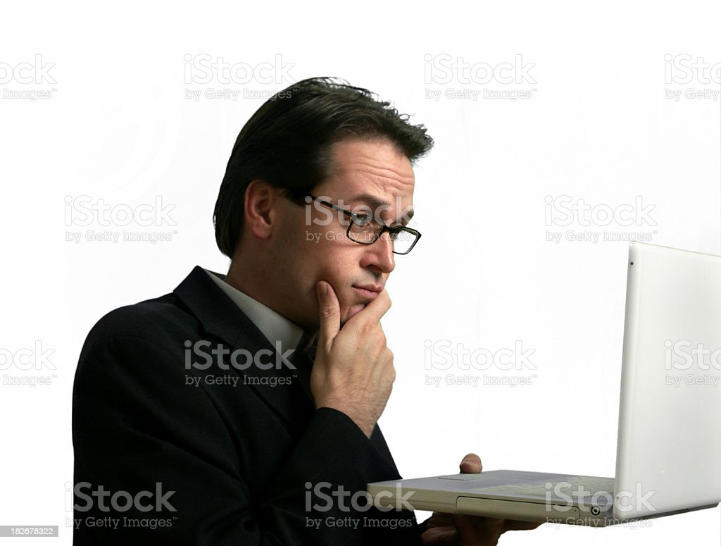 Laptop? (isolated) royalty-free stock photo
