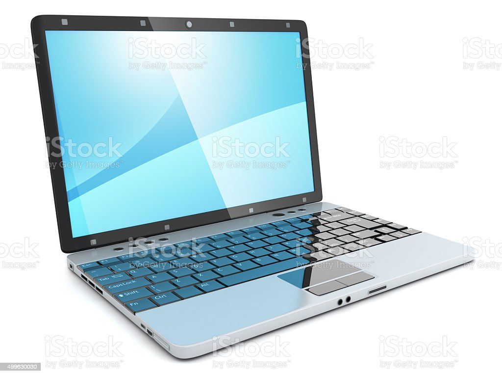Laptop CGI stock photo