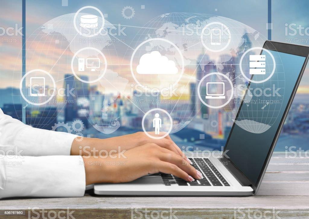 Laptop. bildbanksfoto