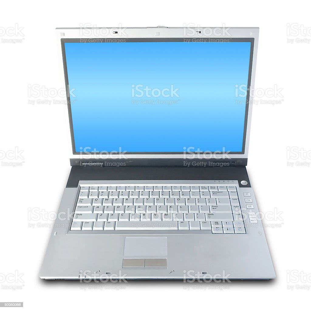 Laptop (+clipping path) royalty-free stock photo