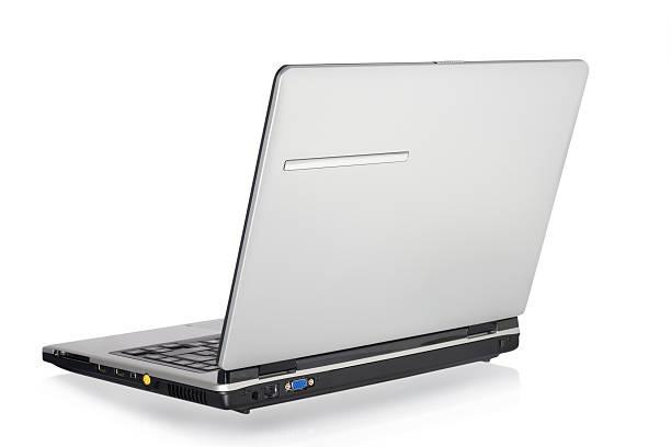 Laptop- Rückansicht. – Foto