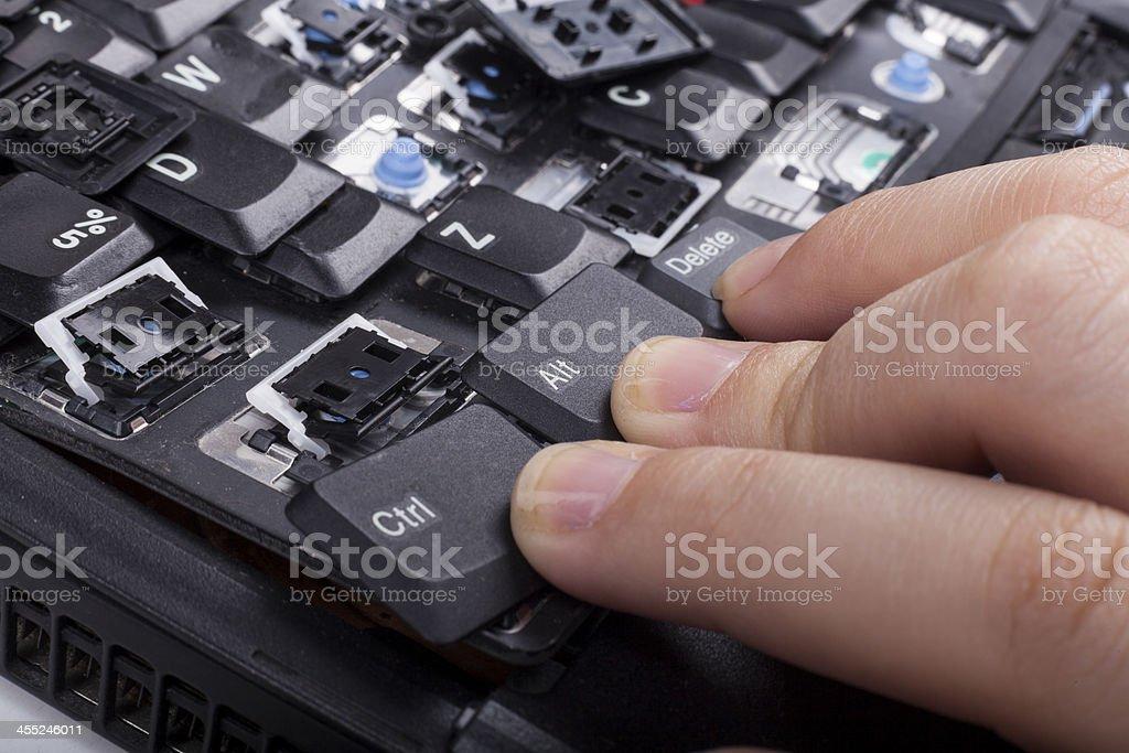 Laptop Reset stock photo