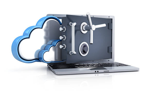 Laptop safe and cloud storage – Foto