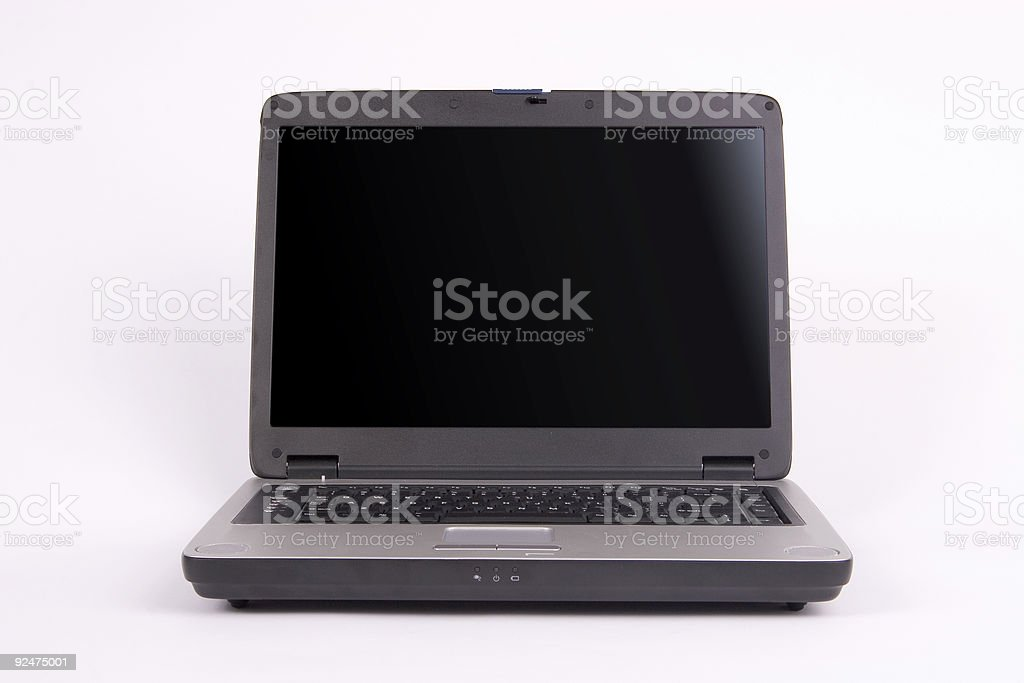 Laptop straight on royalty-free stock photo