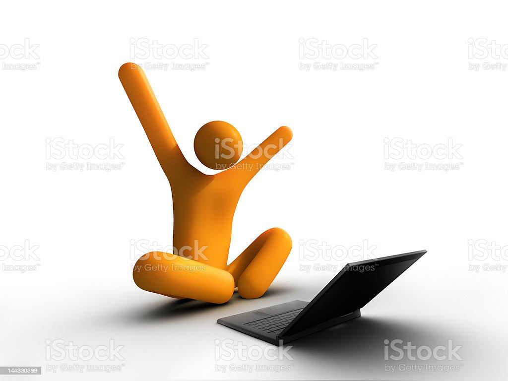 laptop success royalty-free stock photo