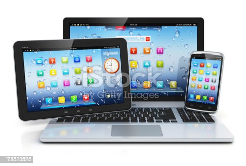 istock Laptop, tablet PC and smartphone 178523525