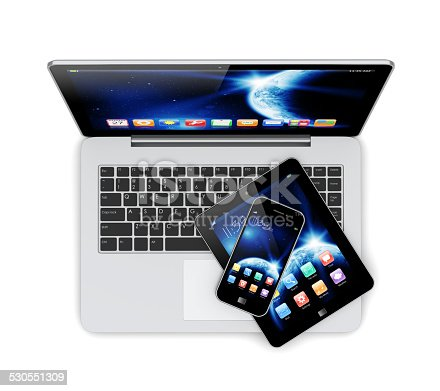 istock Laptop, tablet pc and smartphone 530551309