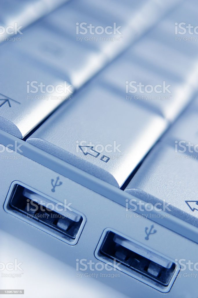 laptop usb stock photo