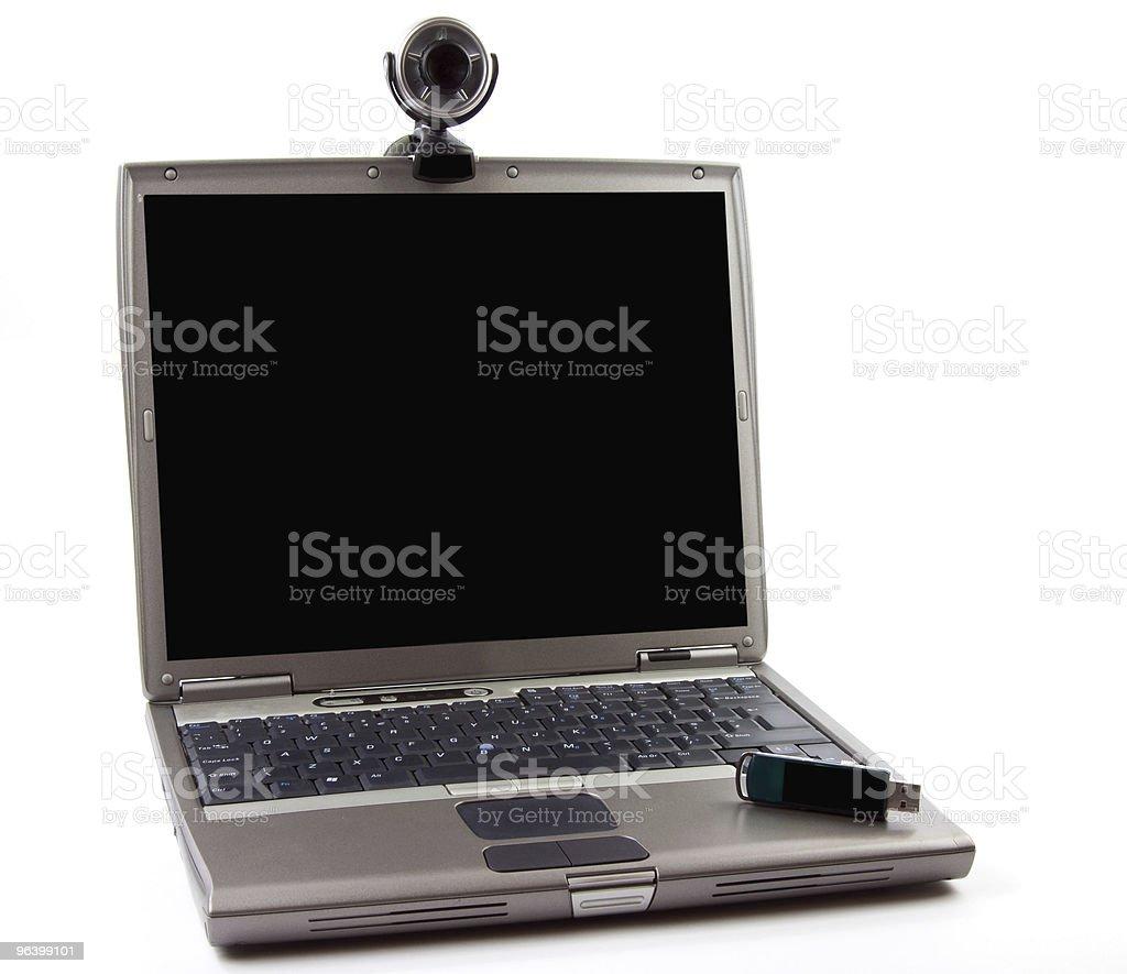 カメラ、ノートパソコン、ビデオコンファレンス - USBケーブルのロイヤリティフリーストックフォト