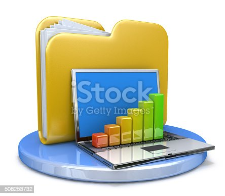 462138083istockphoto laptop with chart and file folder 508253732