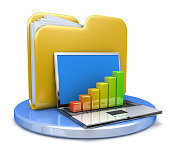 istock laptop with chart and file folder 508253732
