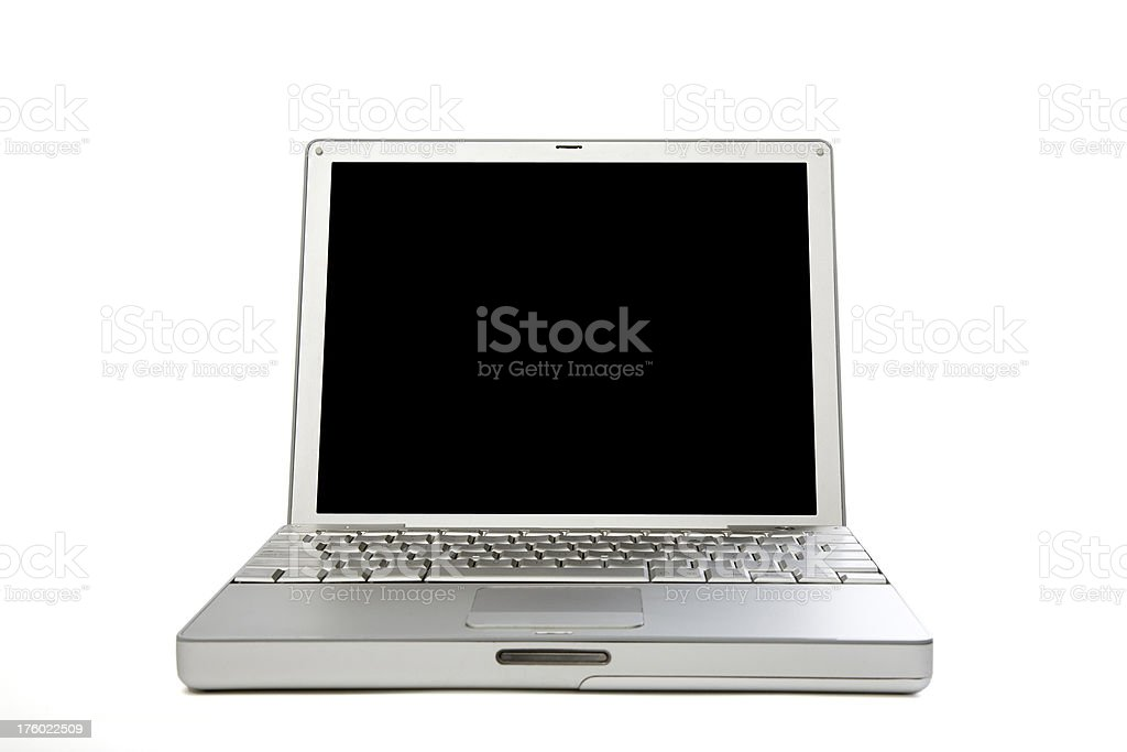 Laptop with vector-isolated screen royalty-free stock photo
