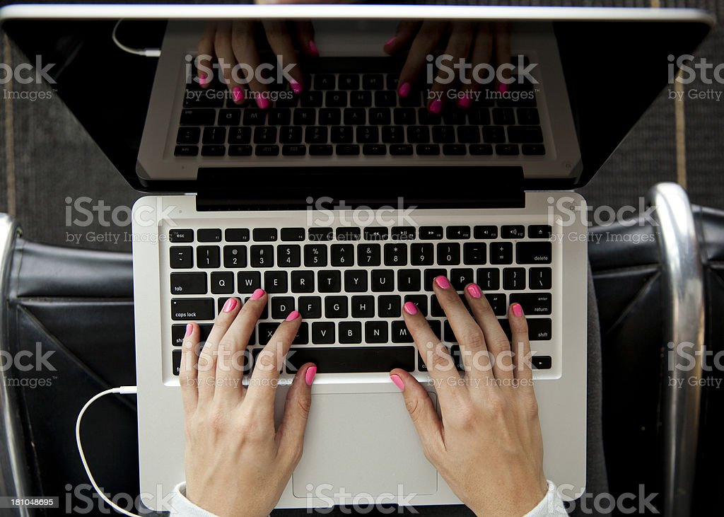 Laptop Woman stock photo