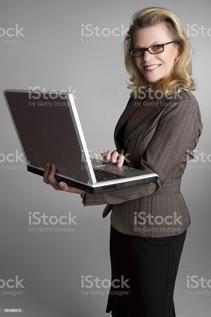 Laptop Woman royalty-free stock photo