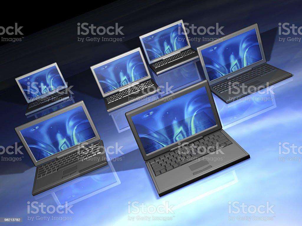 노트북 컴퓨터 네트워크 royalty-free 스톡 사진