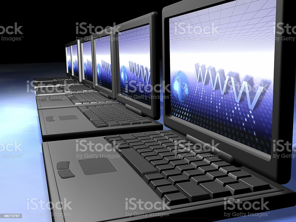 Laptops network royalty-free stock photo