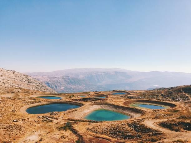 piscines de laqlouq - liban photos et images de collection