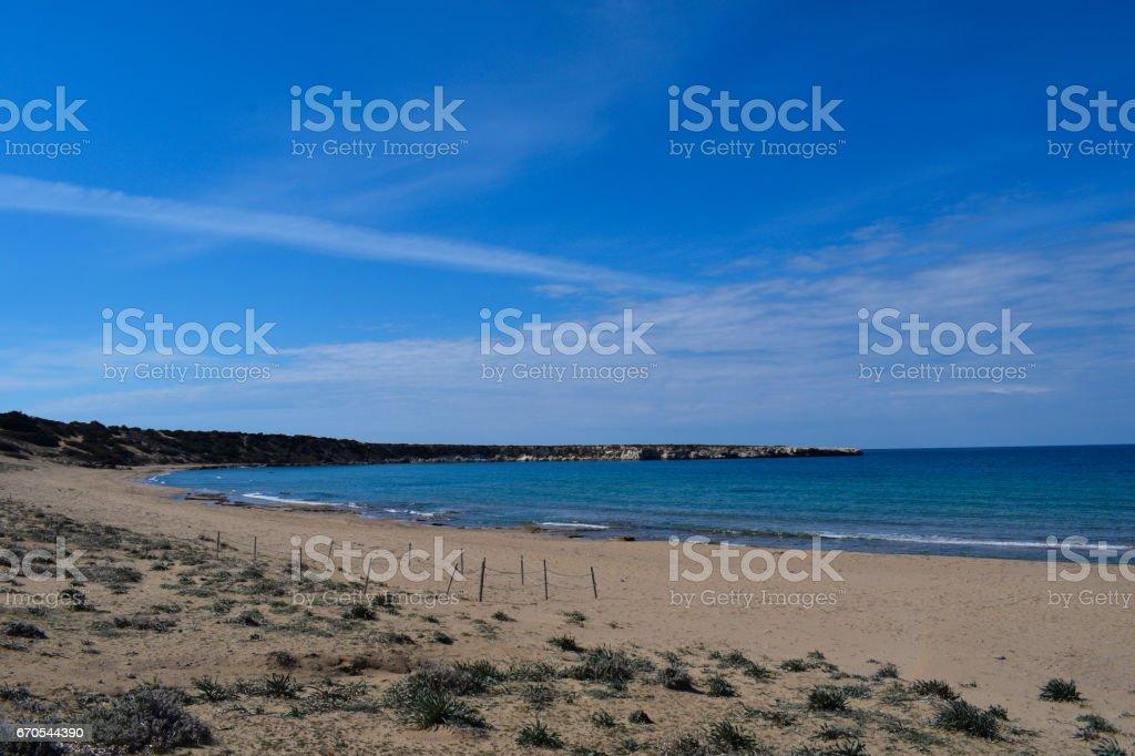 Lara Beach - Cyrpus stock photo