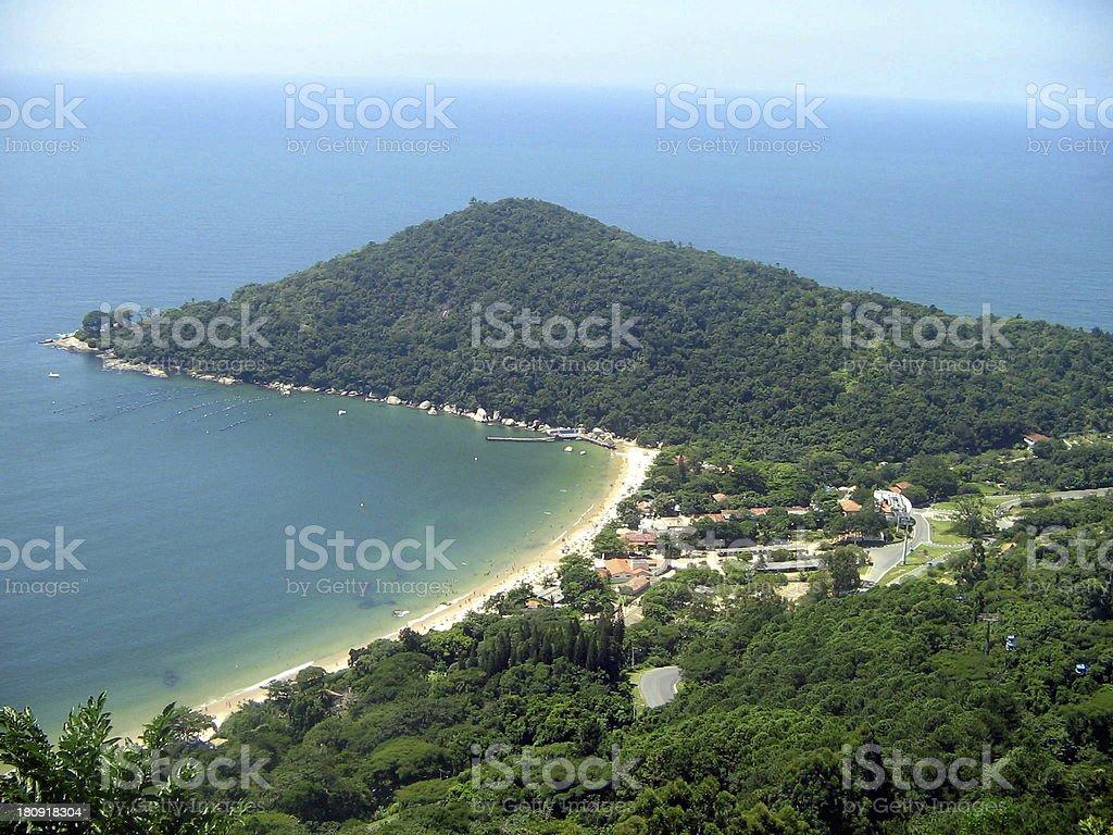 Laranjeiras beach near Balneario Camboriu City royalty-free stock photo