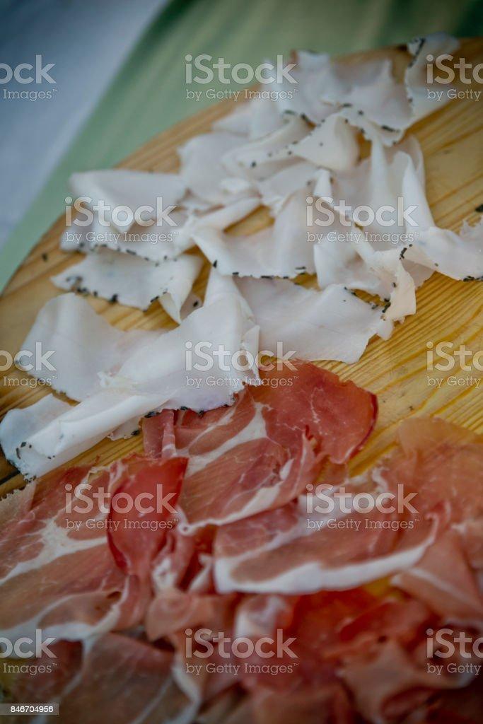 Lardo salume stock photo