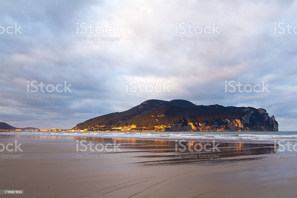 Playa de Laredo. Cantabria. España. stock photo