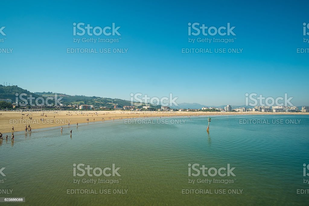 Laredo beach stock photo