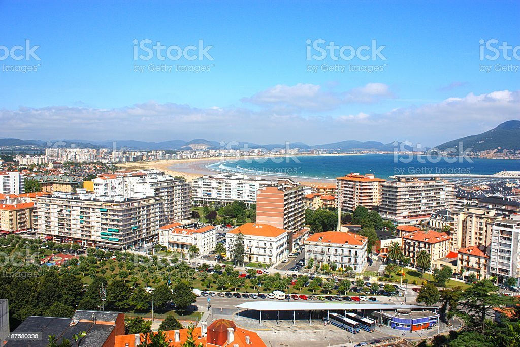 Laredo in Spain stock photo