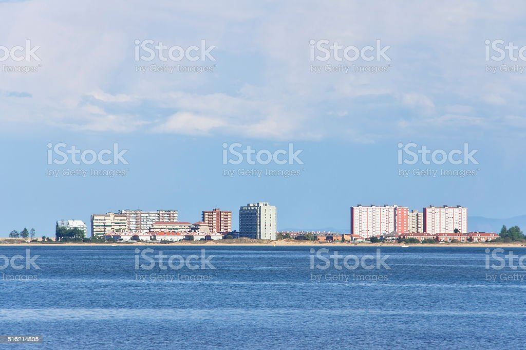 laredo skyline near sea stock photo