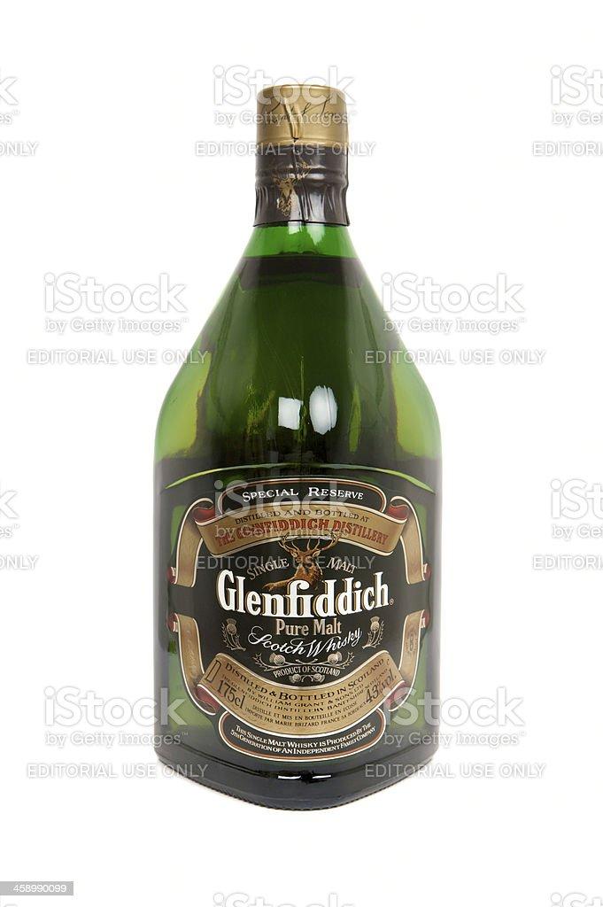 Large 1.75 litre bottle of Glenfiddich Single Malt Scotch Whisky royalty-free stock photo
