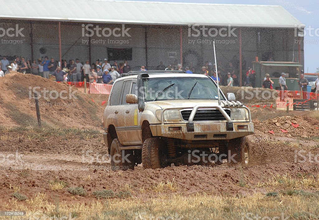large 4x4, toyota landcruiser 100 series stock photo