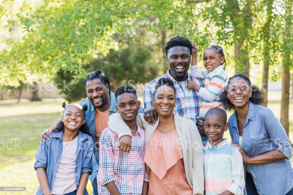 Gran Reunión Familiar Afroamericana Foto De Stock Y Más Banco De