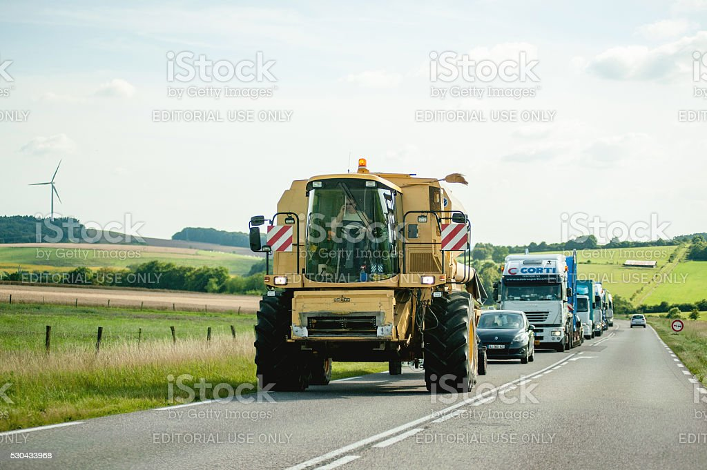 Large agricultural Machine stock photo