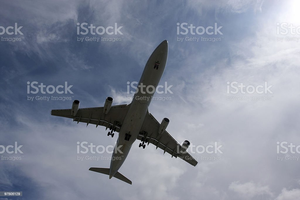 Large Airliner Overhead royalty-free stock photo