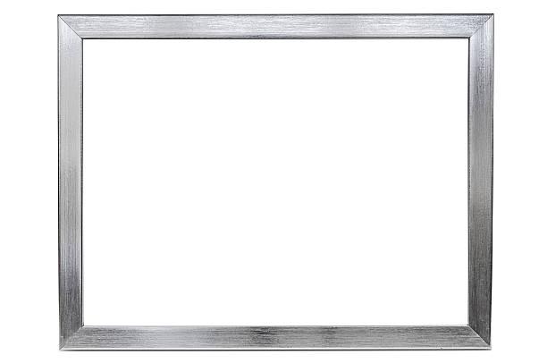 alluminio vuota cornice su sfondo bianco - intelaiatura foto e immagini stock