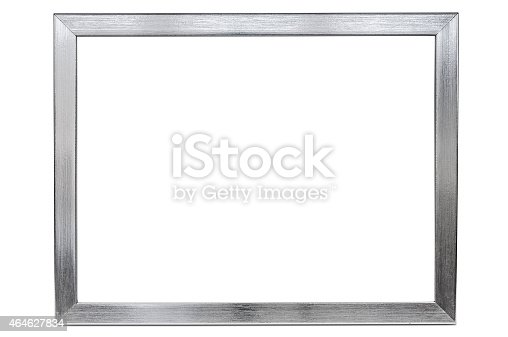 large aluminum empty photo frame on a white background stock photo more pictures of 2015 istock. Black Bedroom Furniture Sets. Home Design Ideas