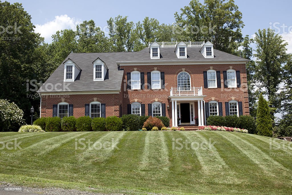 Large American Home stock photo